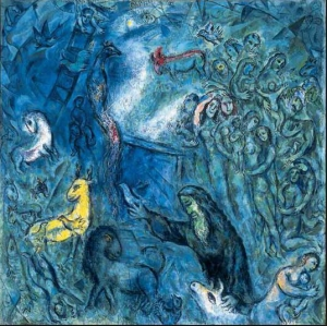 Photo: Marc Chagall, The Ark of Noah (1961-1966).  All species tend to aggregate and organize - Power depends on organization. There is an analogy between animals and plants and can be considered from a Darwinian point of view: all human species tend to aggregate and organize, man in social organizations