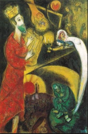 Photo: Marc Chagall: King David (1951) - The Ethics of Power.  King David is rebuked by the Prophet Nathan for having stolen the wife to his subject to make her his bride.